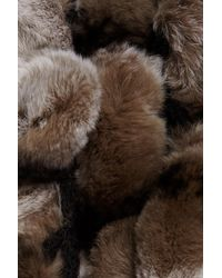 Surell Multicolor Genuine Rex Rabbit Fur Muffler