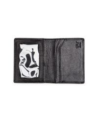 Will Leather Goods - Black Leather Cardfold for Men - Lyst