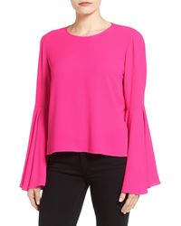 Vince Camuto - Pink Bell Sleeve Blouse - Lyst