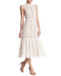 Rebecca Taylor - White Sleeveless Crochet Lace Dress - Lyst