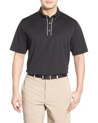 Lone Cypress Pebble Beach - Black Stripe Moisture Wicking Golf Polo for Men - Lyst