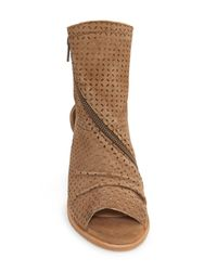 Baske California - Brown Aura Open-Toe Suede Boots - Lyst