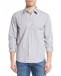 Jeremy Argyle Nyc - Gray Fitted Check Sport Shirt for Men - Lyst
