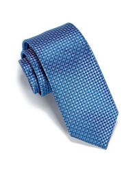 Perry Ellis - Gray Helton Mini Check Tie for Men - Lyst