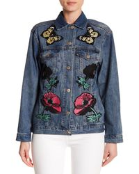 Haute Rogue - Blue Patch Detail Denim Jacket - Lyst