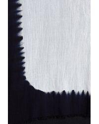 Steve Madden - Black Dip Dye Fringe Edge Scarf - Lyst