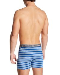 Psycho Bunny - Blue Knit Boxer Brief for Men - Lyst
