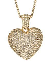 Swarovski - Metallic Gladys Heart Crystal Pendant Necklace - Lyst