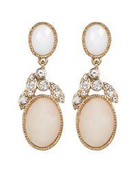 Jenny Packham - Metallic Crystal & Glass Drop Earrings - Lyst