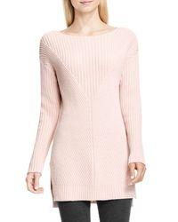 Vince Camuto   Pink Rib Knit Sweater (petite)   Lyst