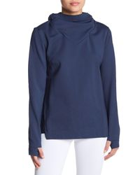 Lime & Vine Blue Alura Cowl Neck Hoodie
