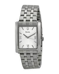 Bulova | Metallic Women's Quartz Bracelet Watch | Lyst