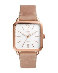 Fossil - Multicolor Women's Micah Leather Strap Watch - Lyst
