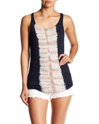 Go Couture - Blue Scoop Neck Tank - Lyst