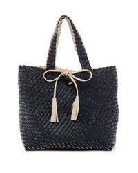 Urban Expressions - Multicolor Woven Reversible Vegan Leather Weekend Tote - Lyst