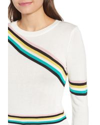 TOPSHOP - Multicolor Chevron Fine Gauge Sweater - Lyst