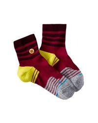 Stance - Purple Alliance Qtr Fushion Athletic Socks for Men - Lyst