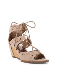 Madden Girl | Brown Rally Cutout Wedge Sandal | Lyst