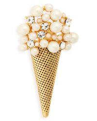 Marc Jacobs - Metallic Ice Cream Brooch - Lyst