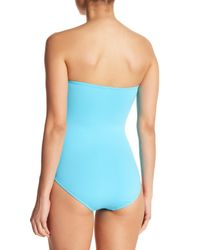 Tommy Bahama Blue Bandeau Solid One-piece Swimsuit