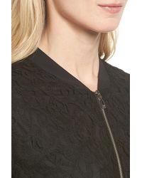 Cece by Cynthia Steffe - Black Lace Bomber Jacket - Lyst