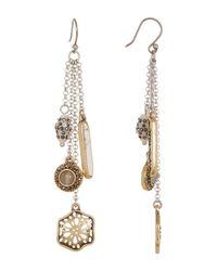 Lucky Brand - Metallic Charm Earrings - Lyst