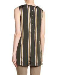 Theory - Black Sleeveless Stripe Tunic - Lyst