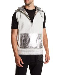 Daniel Won - Multicolor Logan Hooded Leather Vest for Men - Lyst