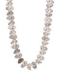 TMRW STUDIO - Metallic Distressed Charm Necklace - Lyst