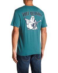 True Religion - Blue Big Buddha Logo Tee for Men - Lyst