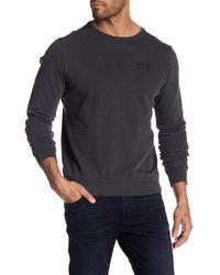 Scotch & Soda - Gray Garment Dyed Sweatshirt for Men - Lyst