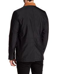 Bugatchi - Black Contrast Collar Long Sleeve Jacket for Men - Lyst