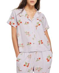 TOPSHOP - Multicolor Poppy Pajama Shirt - Lyst