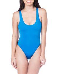 The Bikini Lab - Blue Route 66 One-piece Swimsuit - Lyst
