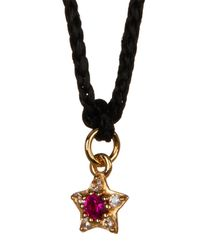 Elizabeth and James - Metallic Bassa White Topaz & Created Ruby Star Pendant Necklace - Lyst