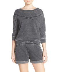 Honeydew Intimates   Black Undrest Raglan Sweatshirt   Lyst