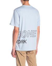 Rag & Bone - Blue Wrap Around Crewneck T-shirt for Men - Lyst