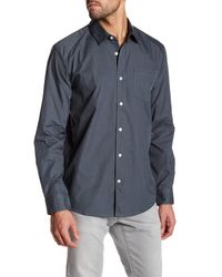 Volcom | Blue Everett Long Sleeve Classic Fit Shirt for Men | Lyst