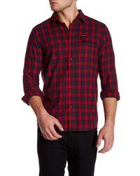 Volcom | Red Fulton Long Sleeve Modern Fit Flannel Shirt for Men | Lyst