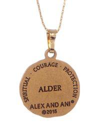 ALEX AND ANI - Metallic Alder Detail Pendant Adjustable Necklace - Lyst
