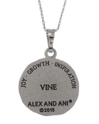 ALEX AND ANI - Metallic Vine Charm Necklace - Lyst
