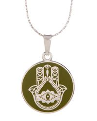ALEX AND ANI | Metallic Hand Of Fatima Pendant Necklace | Lyst