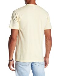 Volcom - Yellow Straight Up Graphic Tee for Men - Lyst