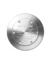 Nixon - Black 'the Sentry' Leather Watch for Men - Lyst