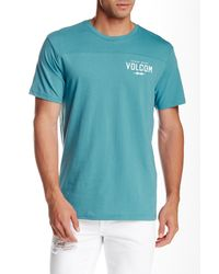 Volcom | Blue Serum Crew Neck Tee for Men | Lyst