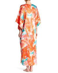 N Natori - Orange Flower Mist Long Caftan - Lyst