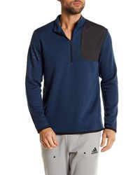 Adidas Originals | Blue 1/4 Length Front Zip Club Performance Pullover for Men | Lyst