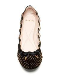 Aerin - Black Irene Laced Flat - Lyst
