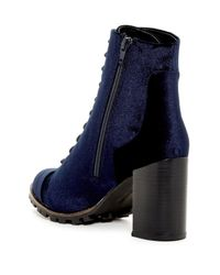 Report - Blue Alanna Lace-up Boot - Lyst