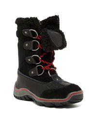 Pajar | Black Scarlett Wedge Boots | Lyst